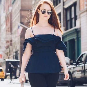 C/MEO Collective off the shoulder top
